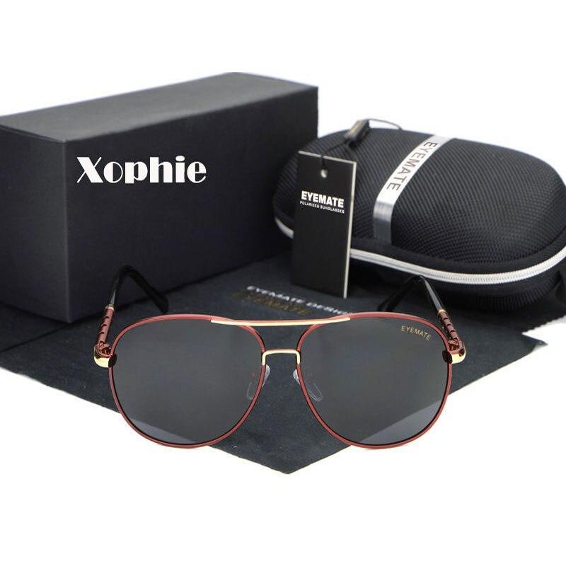 XINFEITE retro luxury men's brand designer outdoor polarized metal pilots sunglasses sports driving sunglasses classic glasses