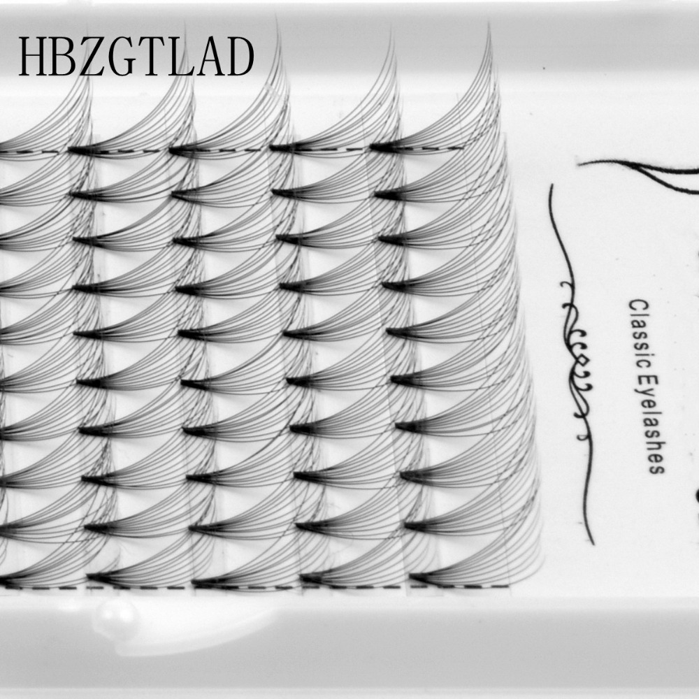 New 10D Russian Volume Eyelashes Extension Short Stem Pre Made Fans C D Curl Mink Lash Hot Selling Eyelash Individual Extensions