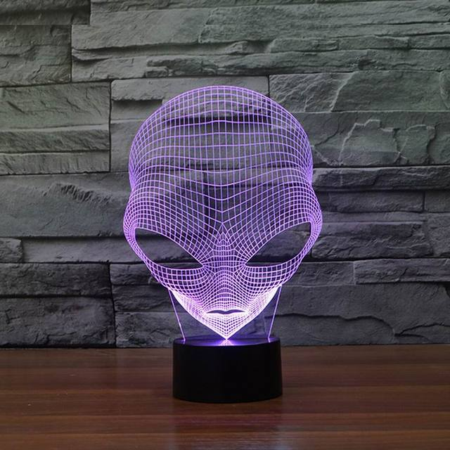 Optical illusion LED Alien light