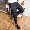 2017 Calças dos homens de Carga calças Basculador Corredores Calças do exército dos homens casuais grandes bolsos moletom homens Emagrecimento calças Tamanho Grande 28-42
