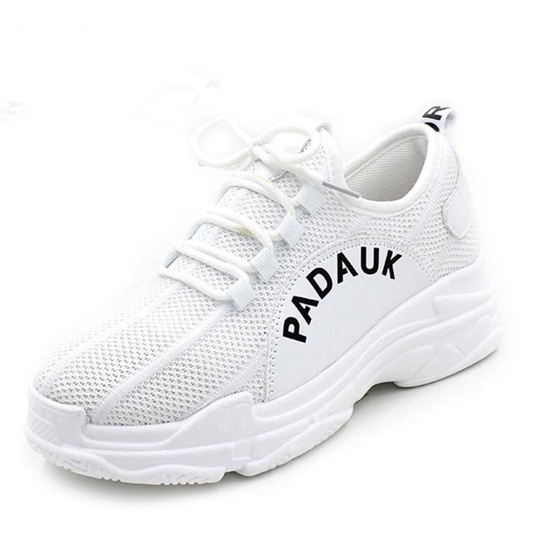 2018 г. новые женские кроссовки Air Grils на платформе увеличивающие рост амортизацию Прогулки Тренеры feminino Zapatos Mujer