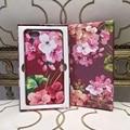 Marca de moda de lujo con logotipo de la flor case cubierta de cuero para iphone 55 s sí 6 6 s 6 plus s7 s7 edge fashion phone case para samsung