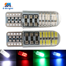 HOT&NEW! 20pcs T10 3014 Led Chip SMD 24 Leds SILICA Light Packing Cars Interior Lighting Beam 12V ree Shipping 280LM