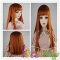 Высокое качество Корея синтетических orange прямые BJD SD кукла парик 1/3 1/4 1/6 для выбирают