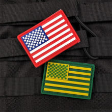 1 Pezzo PVC USA Flag Patch Patch Zaino Borsa Giacca Armband Badge Sticker Esercito Distintivo Americano Fan Militare Patch(China)