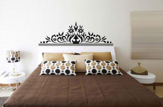 Black Flowers Wall Decoration Sticker Bedroom Headboard Wall - Wall decals headboard
