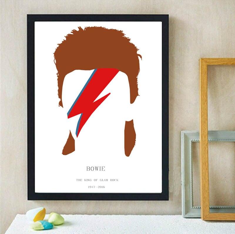 DAVID BOWIE MEMORIAL Ziggy Stardust leinwand malerei wand Poster ...