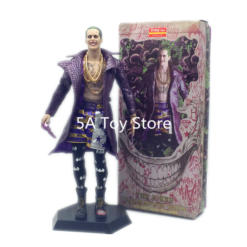 Crazy Toys 1/6 DC Suicide Squad Joker with Cloth Action Figure PVC Doll Anime Collectible Model Toys 12 30cm 1 6 scale ancient figure doll gerard butler sparta 300 king leonidas 12 action figures doll collectible model plastic toys