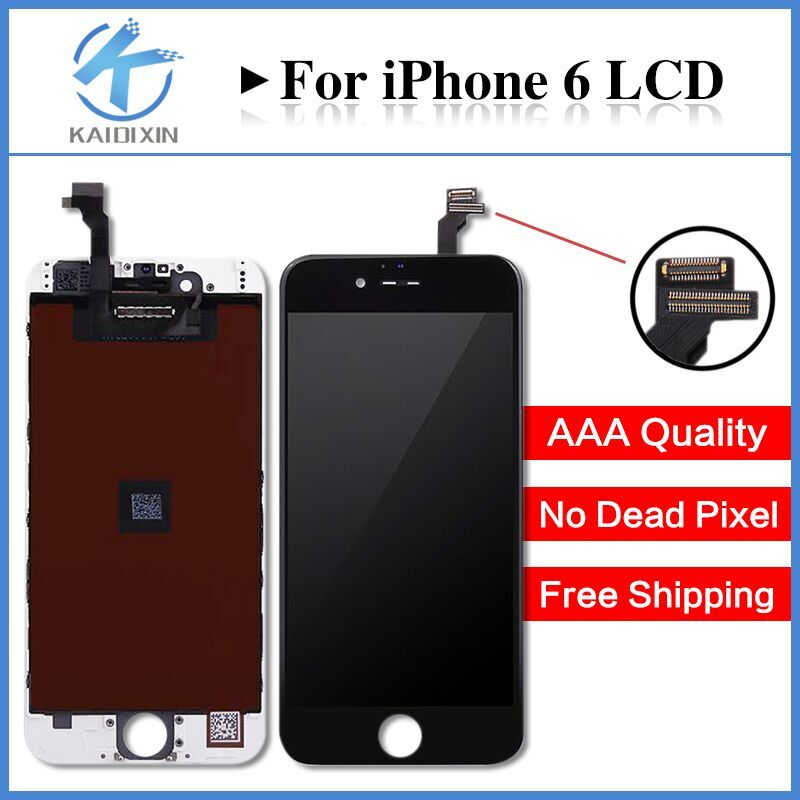 10PCS No Dead Pixel Grade AAA 4.7 inch LCD For iPhone 6 Display touch screen with digitizer assembly replacement parts Free DHL 5pcs lot grade aaa no dead pixel for iphone 6 plus lcd display with touch screen digitizer assembly black