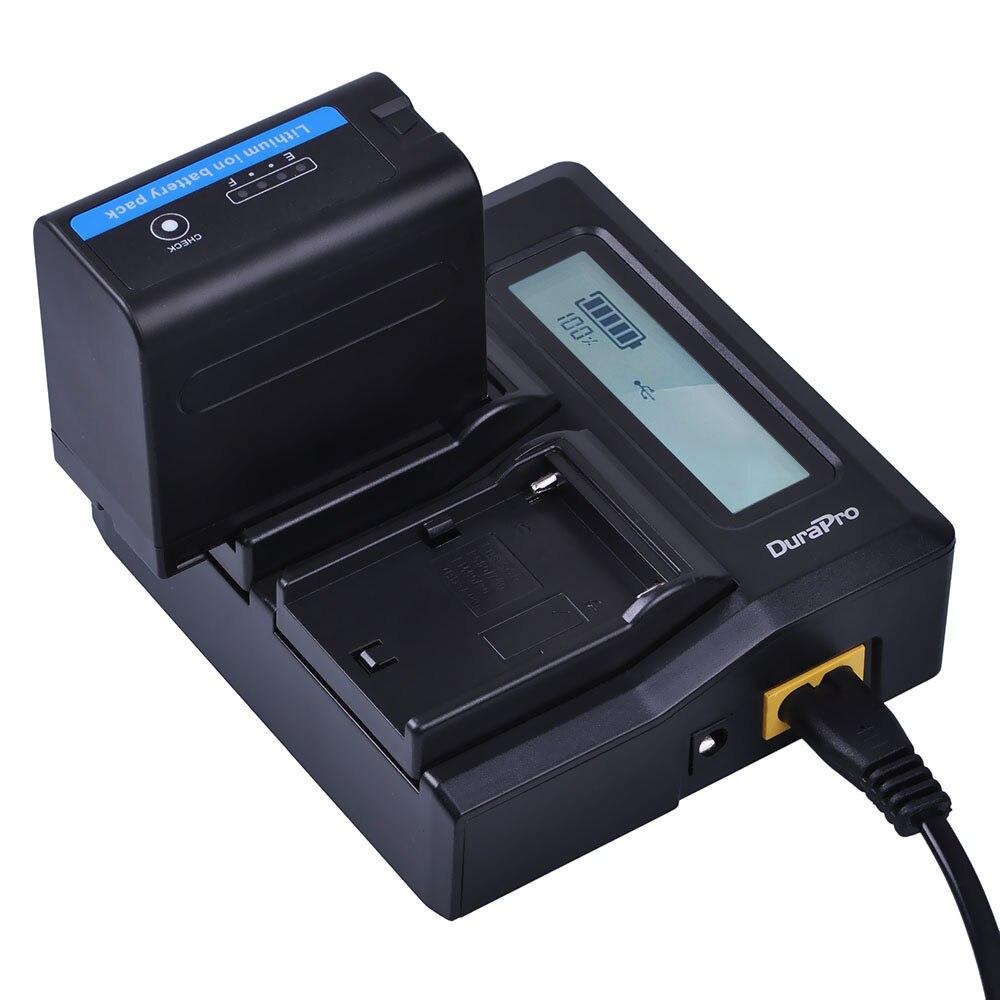 2x7200 mAh NP-F970 NP-F960 NP F970 Batteries avec alimentation LED Indicateur + LCD Chargeur Rapide pour SONY HVR-HD1000 HVR-HD1000E HVR-V1J - 6