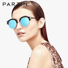 Parzin gafas de sol polarizadas mujeres Vintage Metal flecha diseño  femenino gafas de sol caja redonda 04f4f669188b
