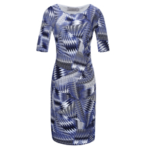 Women Fashion  Summer Printed dress soft hand feeling design Viscose fabric Free Shipping!