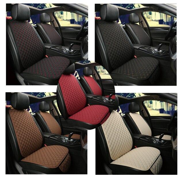 Grande taille lin housse de siège de voiture protecteur lin avant ou arrière siège arrière coussin coussin tapis dossier pour Auto intérieur camion Suv Van 2