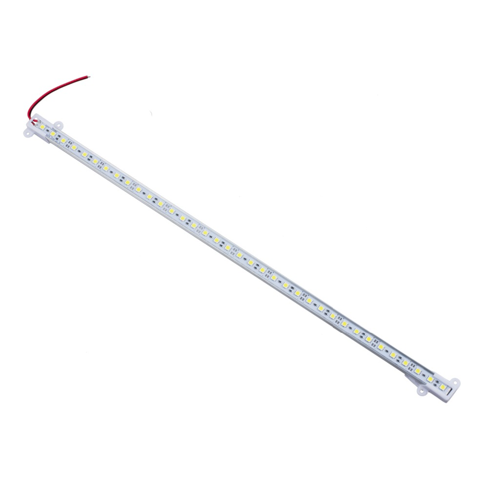 1PC 7.2W 50CM 5050 5630 SMD 36 LED Day Pure White Aluminium Rigid Strip Bar Light Lamp Warm White DC 12V DIY For Home Automobile honsco e10 1w 3000k 70lm 5050 smd led warm white light screw bulb for diy pair 12v