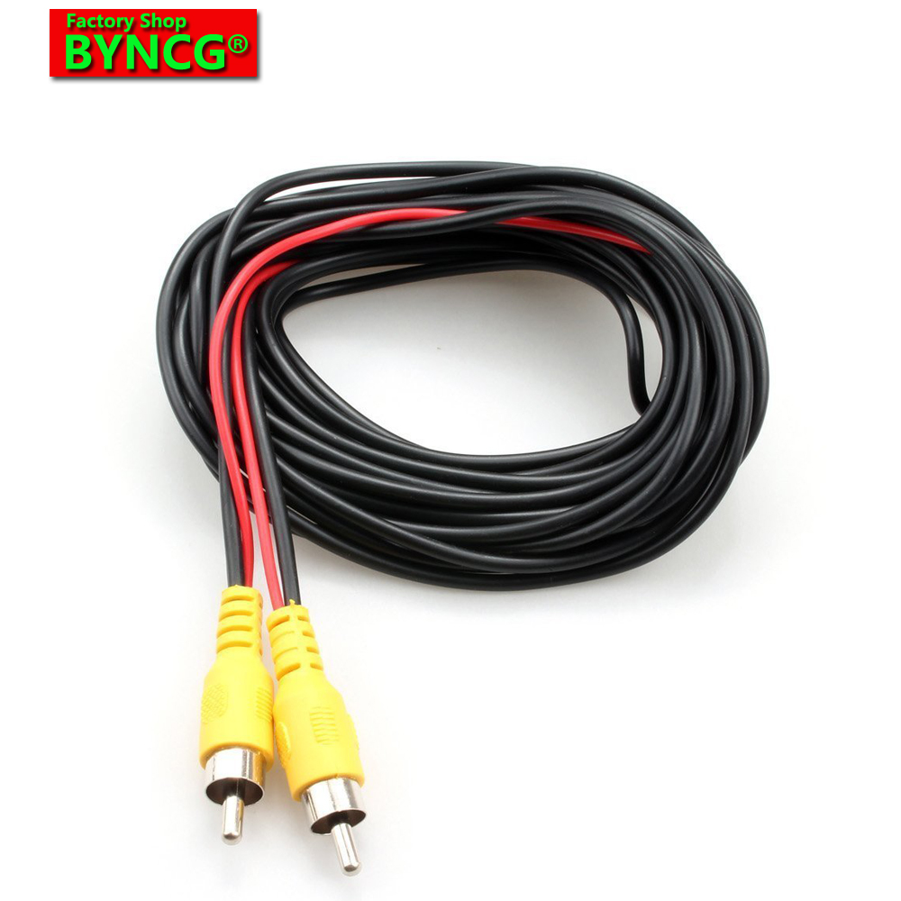 BYNCG AV Cable Universal Wire Harness For Car Rear View Camera Parking 6m Video Extension Cable