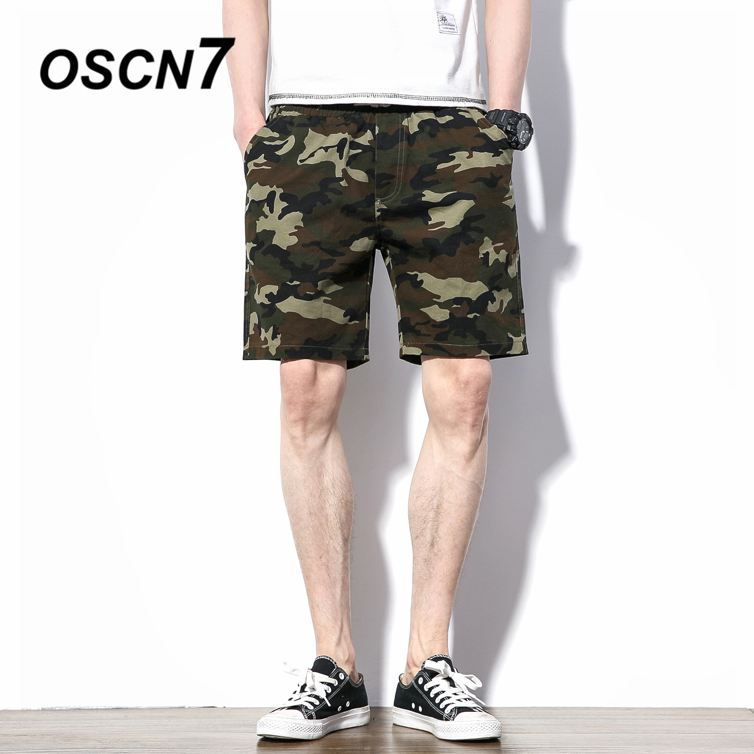 OSCN7 Camouflage Beach Shorts Men Plus Size Casual Fashion Mens Shorts Leisure Short Pants K8170