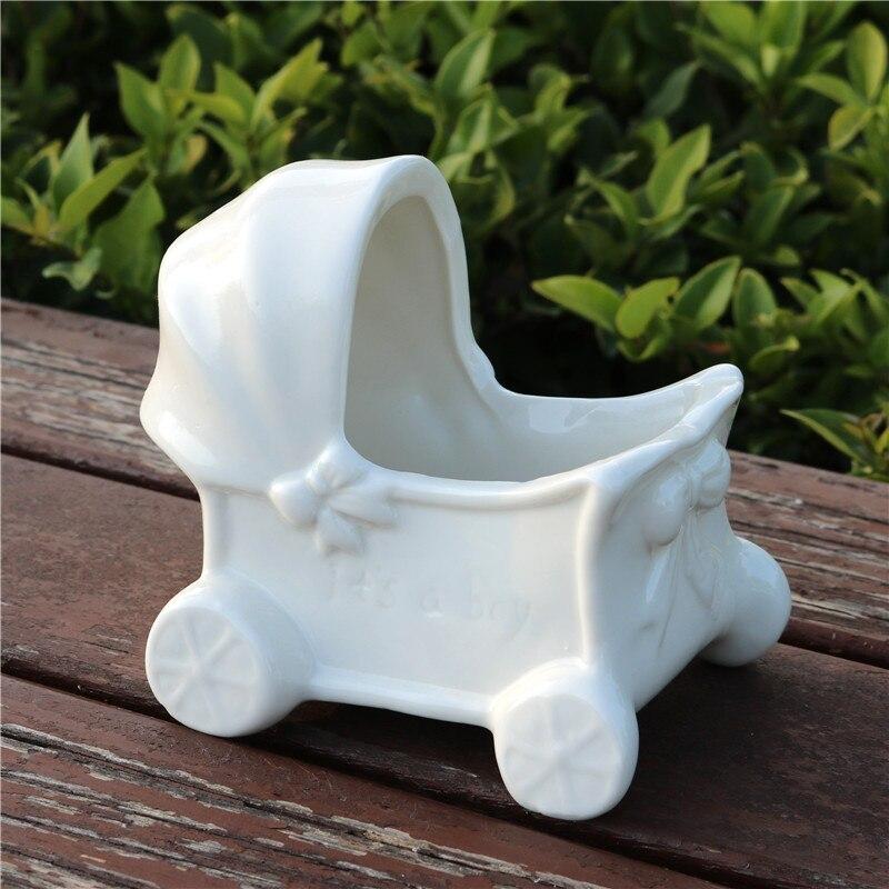 Us 205 18 Offmini Ceramika Wózek Dla Dziecka Model Doniczka Porcelana Dekoracyjna Wózek Dla Dziecka Sadzarka Nowość Ozdoba Akcesoria Do Rękodzieła