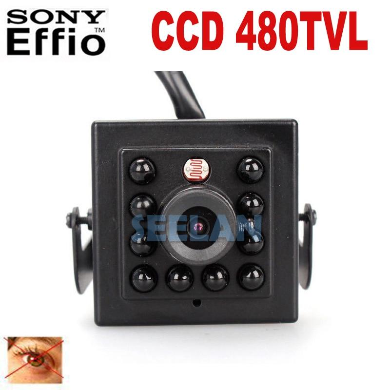 ФОТО 480TVL CCD Mini CCD CAMERA Invisible 10pcs IR 940NM 0 lux Night Vision camera CCTV mini Camera Black infrared lamp mini ir cam