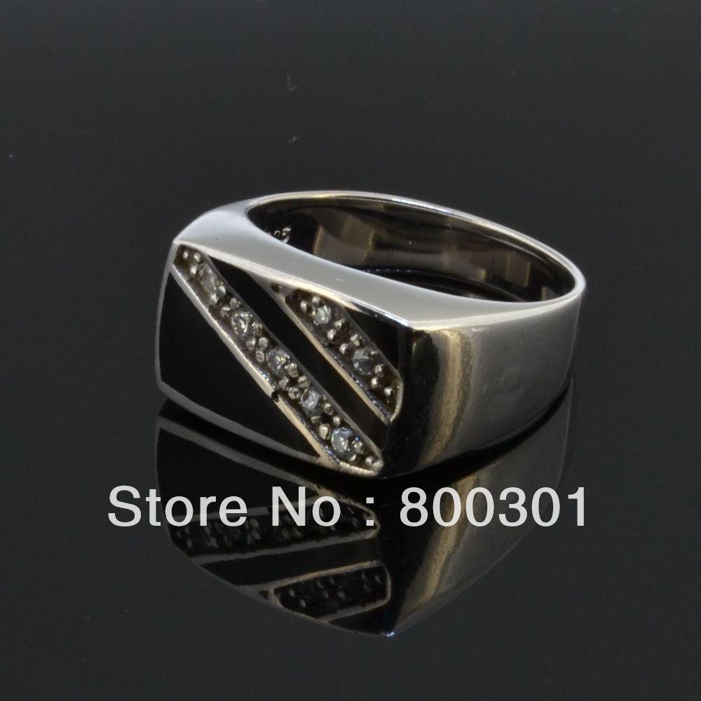 Для Мужчин's полированный печатка из твердого стерлингового серебра модное мужское кольцо