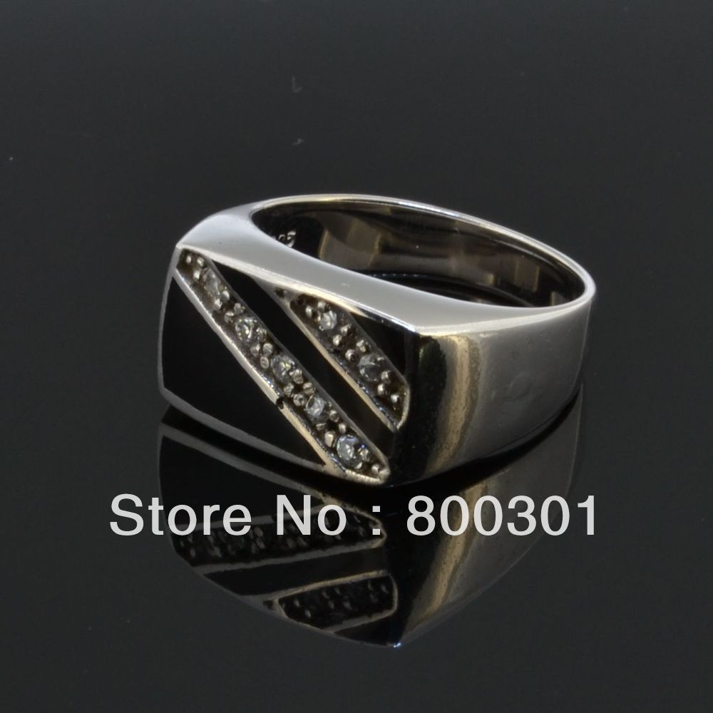 Men's High Polished Signet Solid sterling silver Fashion Man's Ring