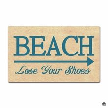 Rubber Doormat For Entrance Door Floor Mat - Non-slip Doormat- Beach Lose Your Shoes Designed Indoor Decorative Non-wov