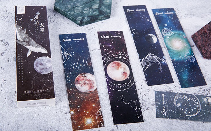 B44- Travel Universe Paper Bookmark(1pack=30pieces)