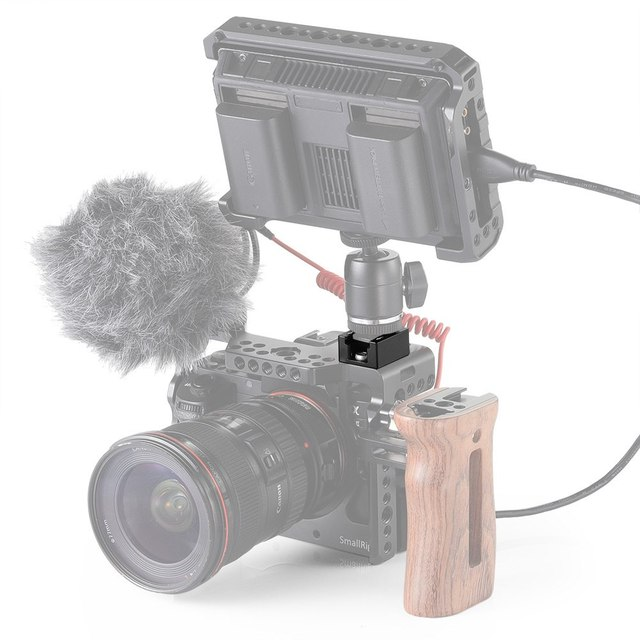 """SmallRig Cold Shoe Mount Adapter with Anti-off Button For Camera Cage/Monitor/Handle/Plate With 1/4""""-20 Threaded Holes-2260"""