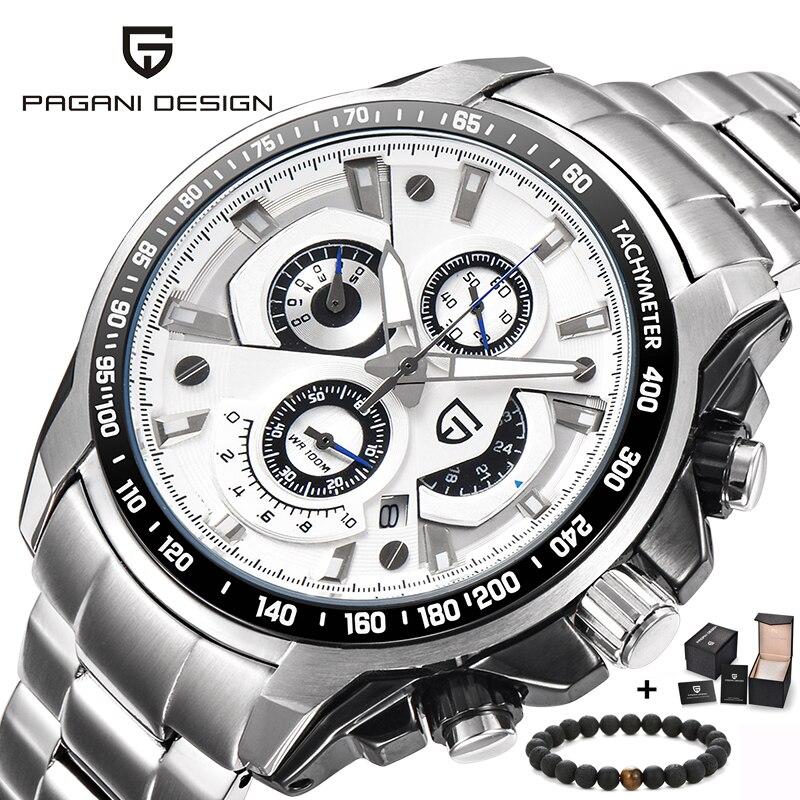 6e466acb910 PAGANI PROJETO Relógios Homens Top Marca de Luxo Famosos Homens do  Cronógrafo de Quartzo Militar Relógio