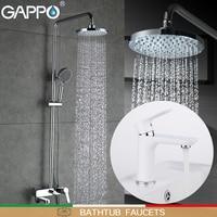 GAPPO Bathtub Faucets Shower Faucet Bathroom Basin Mixer Tap Waterfall Faucet Bath Shower Head Brass Rain