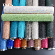 Hisenlee 24x40cm SS8 Bling Hotfix Iron On Strass Glass Rhinestone Trim Mesh  In Roll for Dresses Clothes Jewelry Shoes Crafts 31770cf93951