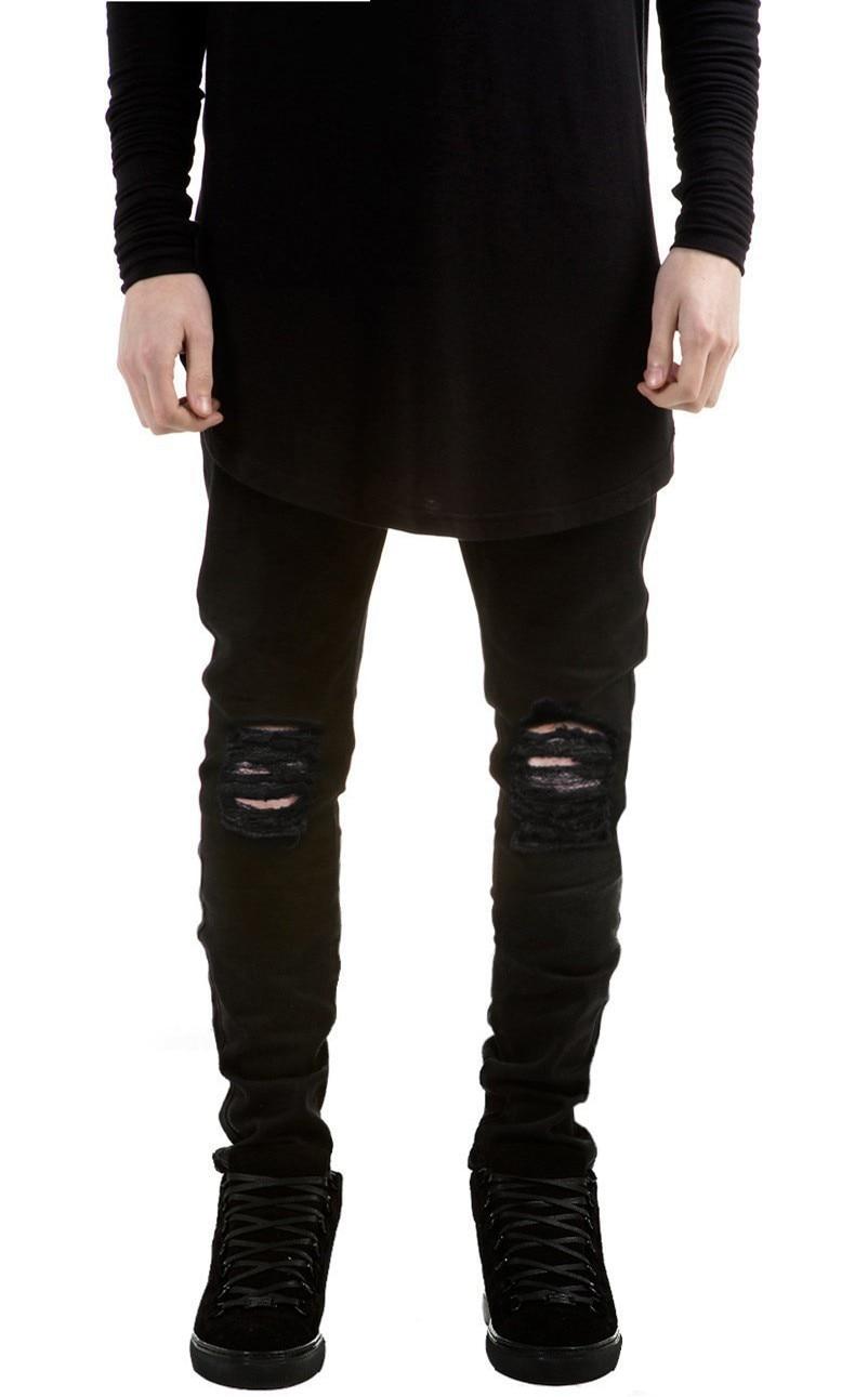 Summer Mens Destroyed Denim Jeans Slim Hole Black Strech Ripped Jeans For Men Casual Skinny Jean Fashion Pants Designer Jeans