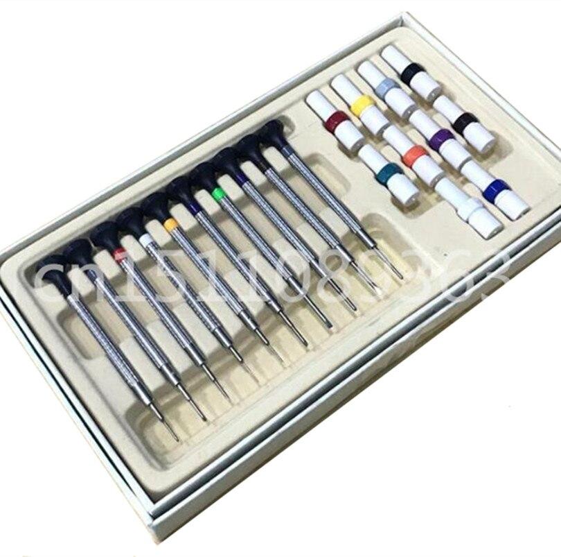 Gratis Verzending 10 pcs Horloge Schroevendraaier Set Precisie Schroevendraaiers Horloge Reparatie Tools In Houten Geval-in Reparatiemiddel & Kits van Horloges op  Groep 1