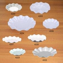 A5 Melamine Imitation Porcelain Dinnerware Lotus Dish Dinner Plate Fast Food Restaurant Noshery Hotel Wineshop Tableware
