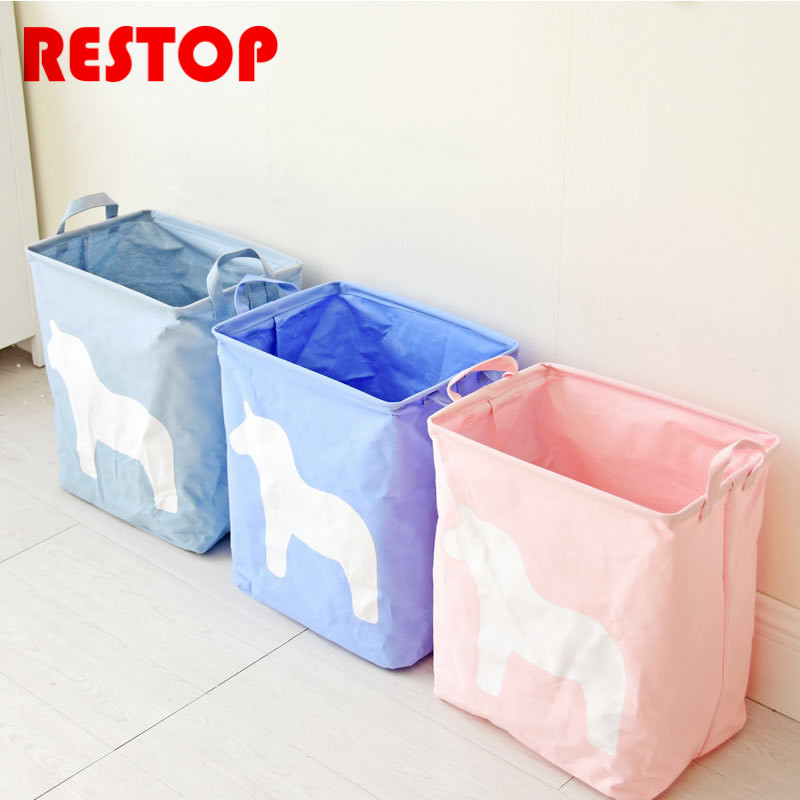 Newest 35x40cm Candy Color Laundry Bag Canvas Washing Laundry Basket Hamper Storage Dirty Clothing Basket Toy Storage Bag RES454