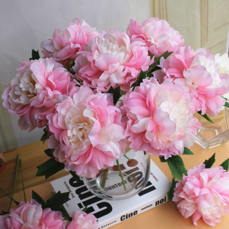 High quality artificial peony silk flowers for home wedding high quality artificial peony silk flowers for home wedding decoration fake flower diy floral floral wedding wall mightylinksfo