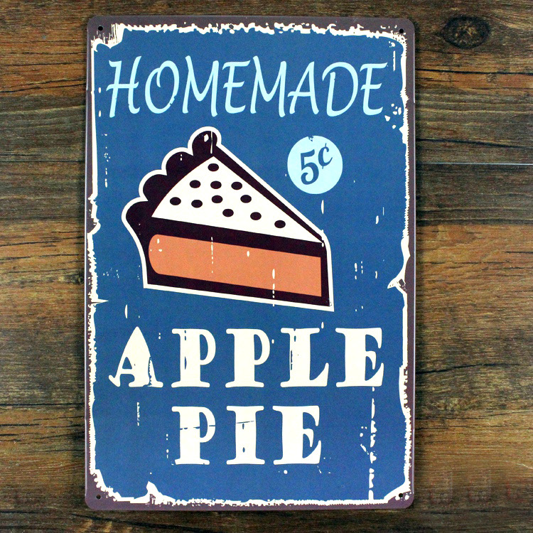 xsy059 decorationletter food sign homemade apple pie vintage metal tin signs home decor painting - Metal Signs Home Decor