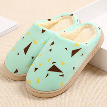 Women slippers fashion flat slippers mixed colors plush warm ladies shoes soft non-slip home shoes 2018 fashion