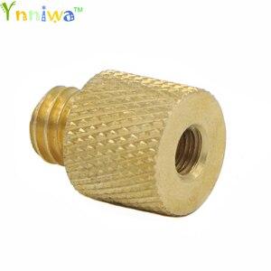 Image 1 - 10pcs/lot 1/4 inch Female to 3/8 inch Male Tripod Thread Reducer Adapter Brass Copper For Camera tripod Diameter of screw 3/8