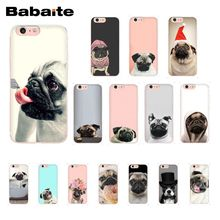 Phone-Case Animal 12mini 6s-Plus for 11/Pro-11pro/Max/.. Eating Pug Dog-Reading Cute