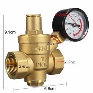 Image 5 - 1 قطعة المياه تخفيض الضغط صمام DN20 NPT 3/4 النحاس صمام منظم مع مقياس متر قابل للتعديل ل توريد المنزل