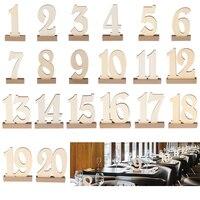 20 pz/lotto Numero 1 ~ 20 In Legno Tavolo Luogo Carte di Natale Decorazioni Di Nozze Tavolo Lavagna Forniture Souvenir Home Decor