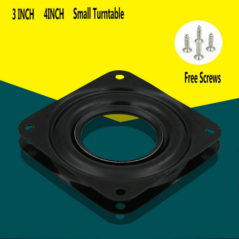 HQ 3-4 INCH SMALL Seat Swivel Plate 360 Degree Rotation Square Lazy Susan Hollow Rotating Display Stand Small Turntable HQ 3-4 INCH SMALL Seat Swivel Plate 360 Degree Rotation Square Lazy Susan Hollow Rotating Display Stand Small Turntable