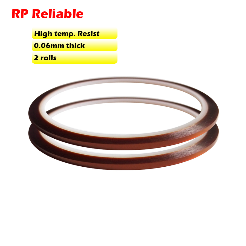 2 Rolls 2mm 3mm 4mm 5mm Choose, *0.06mm 33meters Hi-Temp. Withstand Sticky Polyimide Film Tape For Chip BGA Soldering Masking