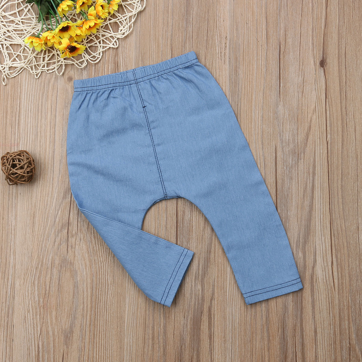 Infant Baby Boys&Girls Clothes Cartoon Bears Denim Clothing Long Pants Bottoms Kids Trousers 0-3 Years 3