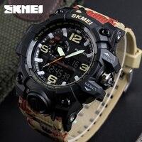 SKMEI SKMEI Big Dial Dual Time Display Sport Digital Watch Men Chronograph Analog LED Electronic Wristwatch