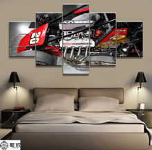 5 Pieces Super Sports Go-kart Poster Modern Wall Art Decorative Modular Framework Picture Canvas HD Printed One Set Painting