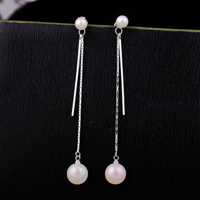 MIGGA or blanc couleur longue gland dos simuler perle boucles d'oreilles mode femmes boucles d'oreilles bijoux 2 Usages