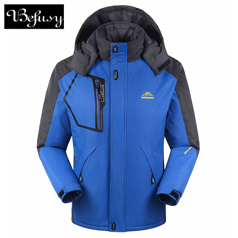 ... Dos Homens Das Mulheres Ao Ar Livre Dupla Camada Impermeável Escalada  Ski Jackets Windbreaker Softshell Camping Quente Casaco em Jaquetas  caminhadas de ... fe84df947ace2