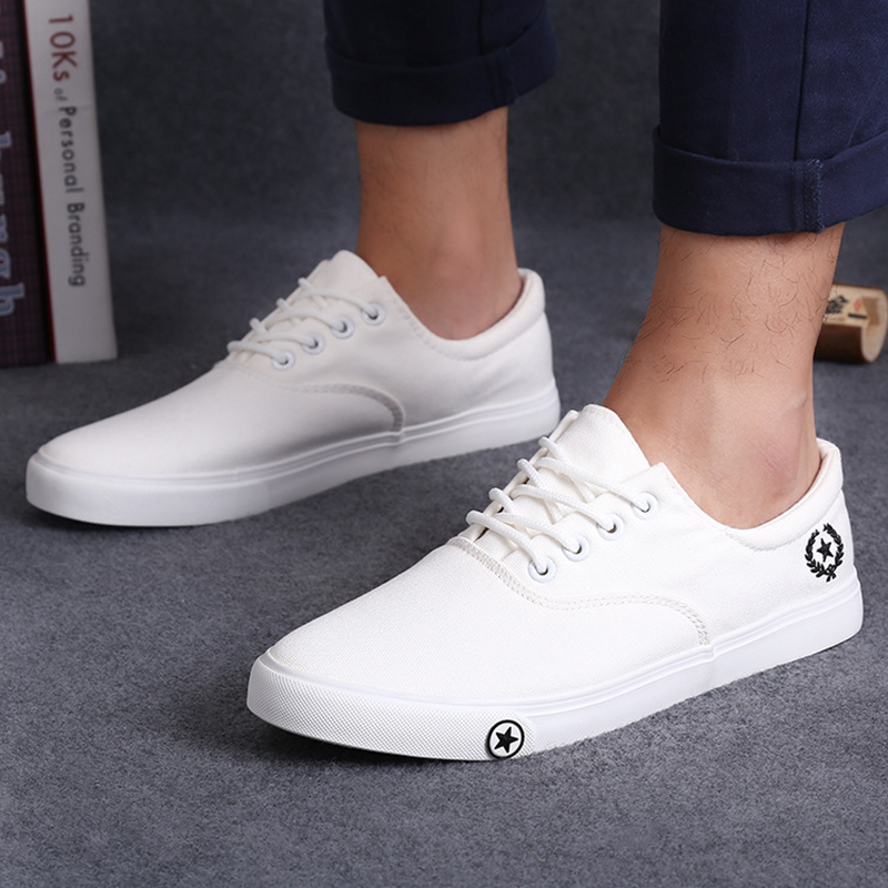 Boy White Canvas Shoes