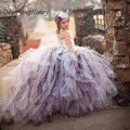 2017 New Style Tutu Tulle Baby Flower Girl Dress Puffy Ball Gown Birthday Party Dresses Pageant Dresses for Wedding Occasion
